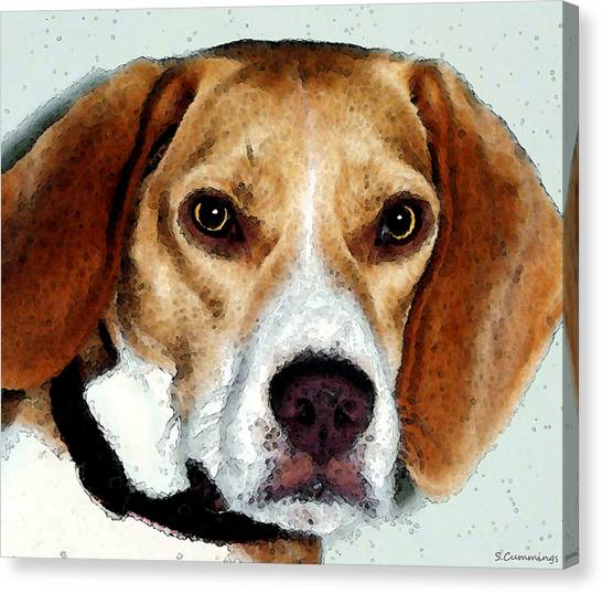 Beagles Canvas Print - Beagle Art - Eagle Boy by Sharon Cummings