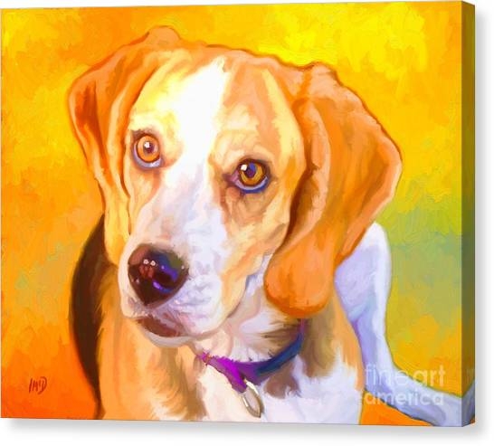 Beagle Dog Art Canvas Print by Iain McDonald