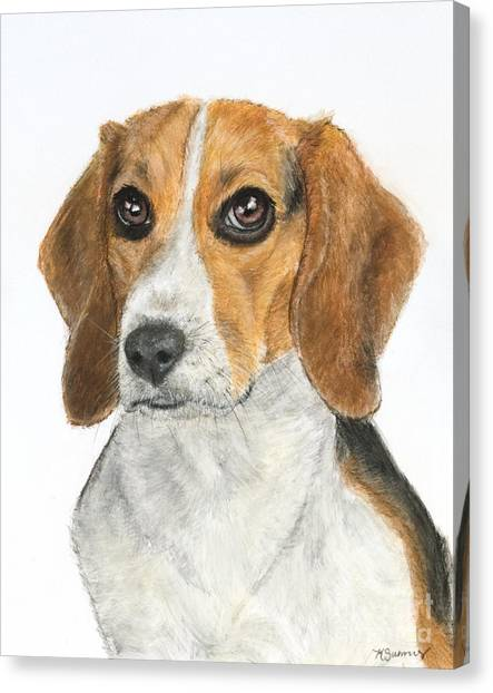 Beagle Painting Canvas Print