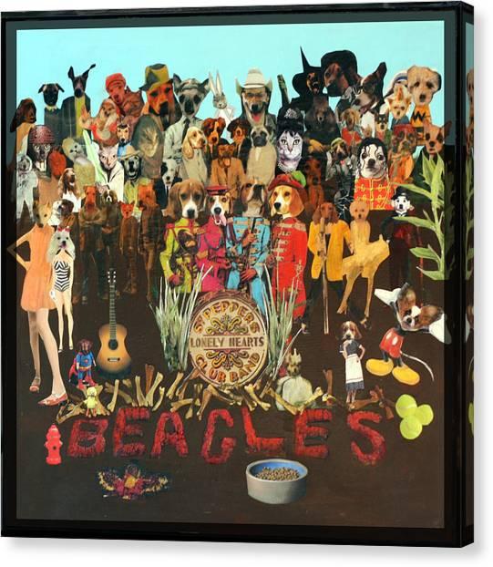 Beagles Canvas Print by Susie DeZarn