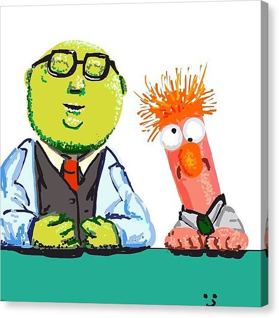 Professors Canvas Print - Beaker And The Professor by David Burles