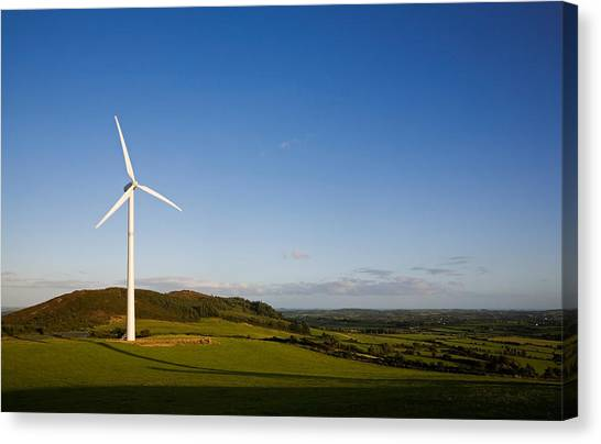 Waterford Canvas Print - Beallough Windfarm, Above Portlaw by Panoramic Images