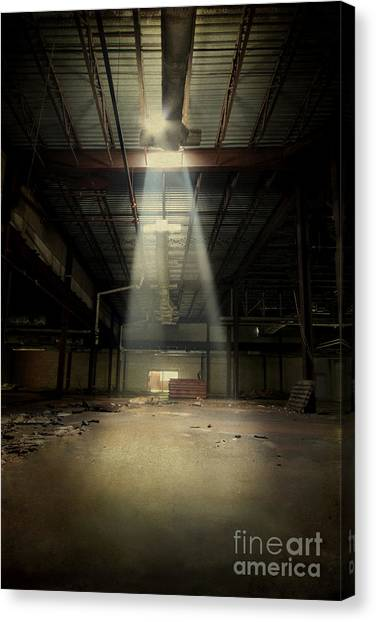 Derelict Canvas Print - Beam Me Up by Evelina Kremsdorf