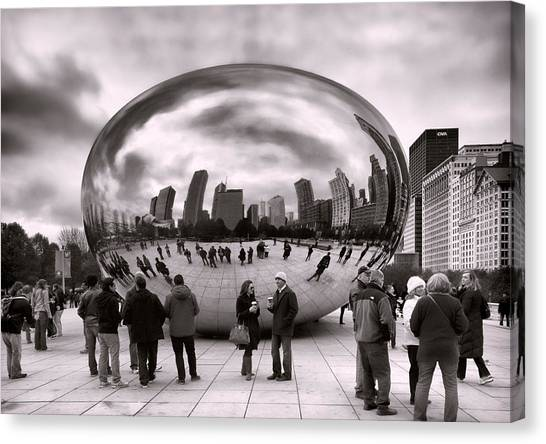 The Bean Canvas Print - Bean Stalking by Peter Chilelli