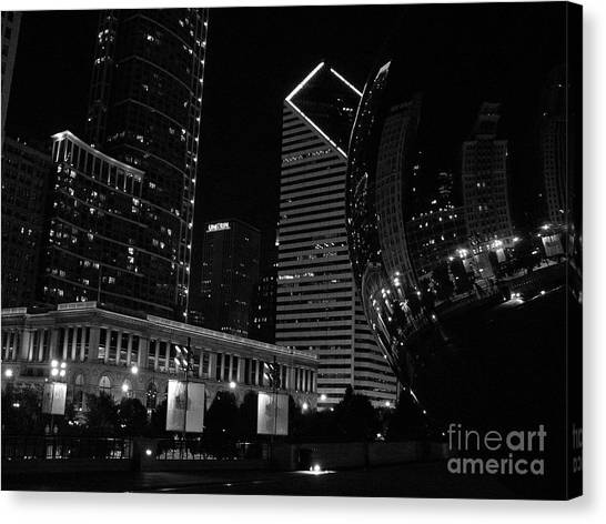 Cloudgate Canvas Print - Beanie Baby by David Bearden