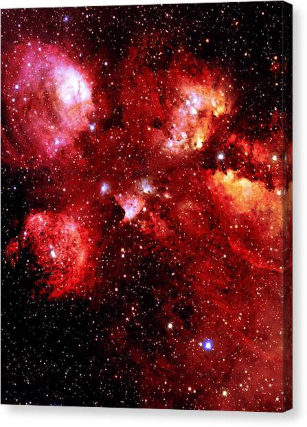 Bear Claws Canvas Print - Bear Claw Nebula by J-c Cuillandre/canada-france-hawaii Telescope/science Photo Library