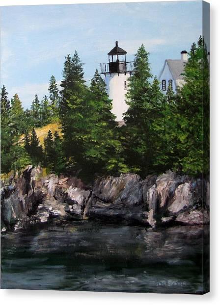 Canvas Print - Bear Island Lighthouse by Jack Skinner