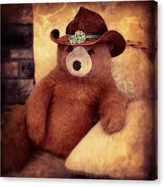 Bears Canvas Print - Bear Kickin' Back by Paul Cutright