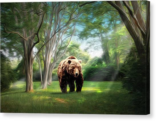 Bear Light Canvas Print by Richard Trahan
