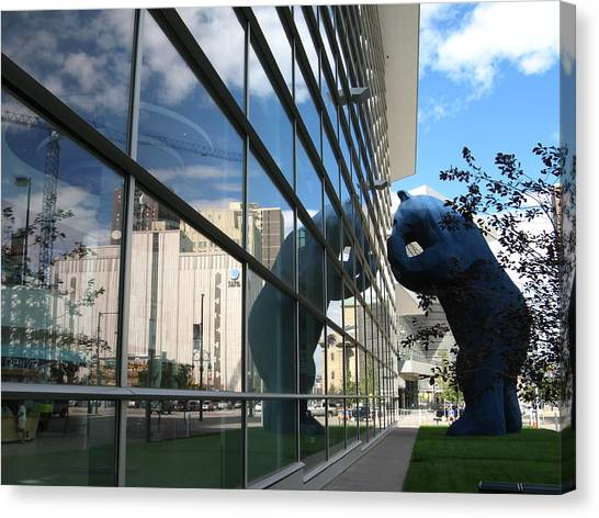 Bear Looking In Canvas Print