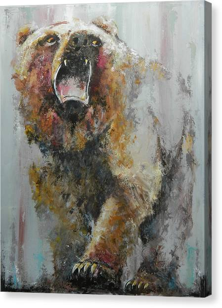 Market Canvas Print - Bear Market by John Henne