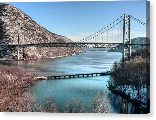 Bear Mountain Bridge Canvas Print by JC Findley