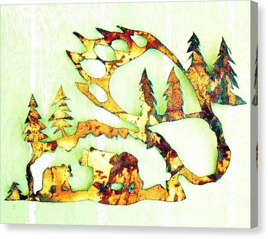 Bear Track 8 Canvas Print