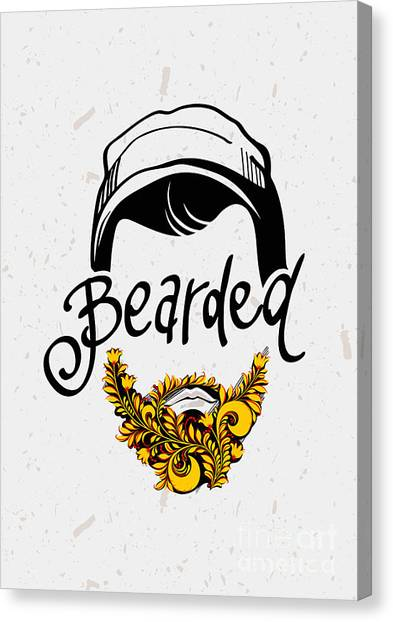 Nose Canvas Print - Beard And Mustache. Traditional Russian by Pevuna
