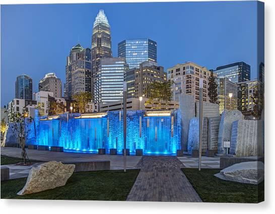North Carolina Canvas Print - Bearden Blue by Chris Austin