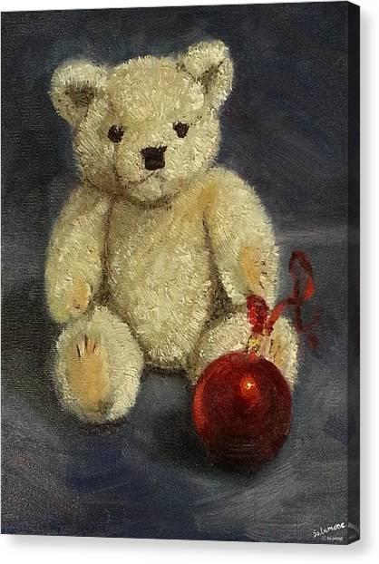 Beary Christmas Canvas Print