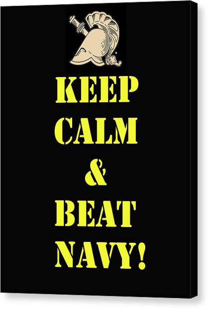Beat Navy Canvas Print