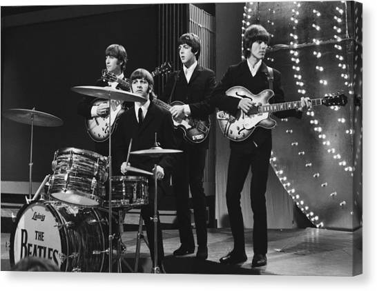 George Harrison Canvas Print - Beatles 1966 50th Anniversary by Chris Walter