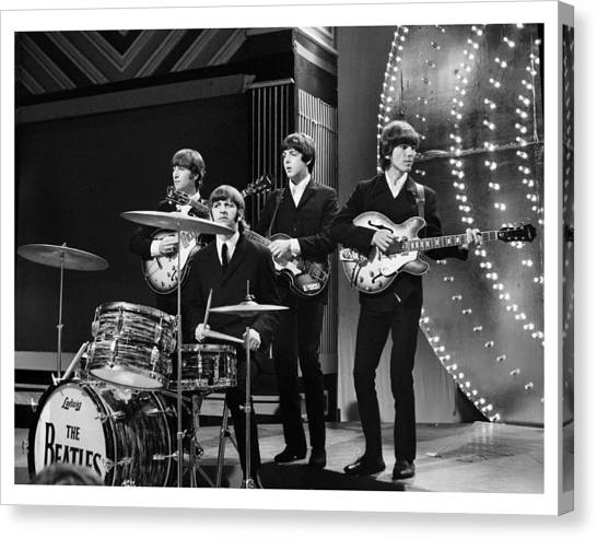 George Harrison Canvas Print - Beatles 1966 Limited Edition by Chris Walter