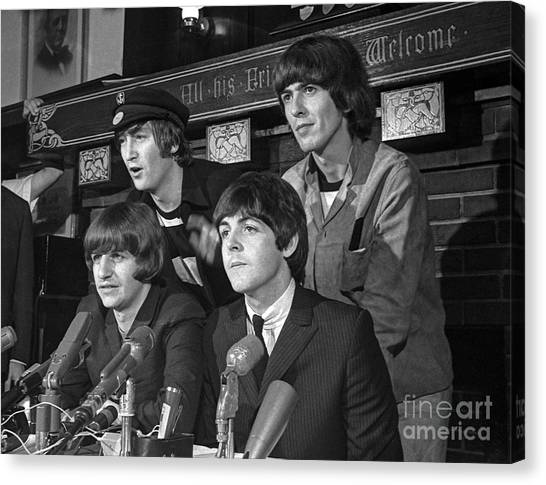 Beatles In Chicago Canvas Print