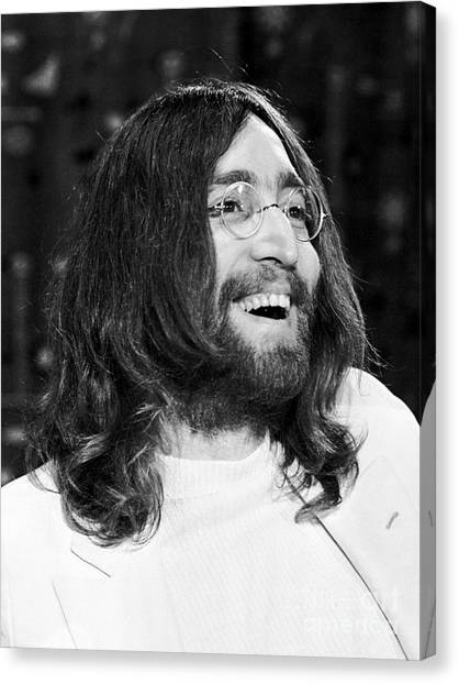 Chris Walter Canvas Print - Beatles John Lennon 1969 by Chris Walter