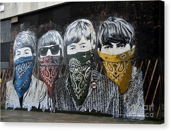 Beatles Street Mural Canvas Print
