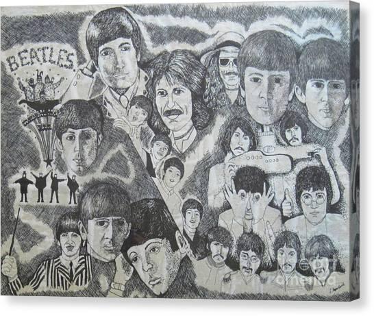 Beatles Tribute Canvas Print by Susan Plenzick