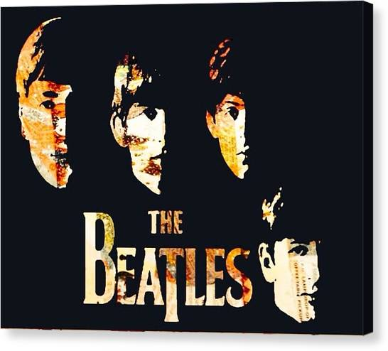 Beatles Canvas Print by Trisha Buchanan