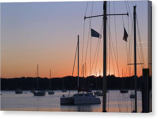 Beaufort Sc Sunset Canvas Print