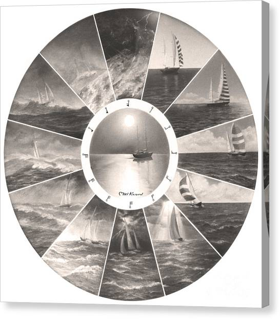 Beaufort Scale Canvas Print