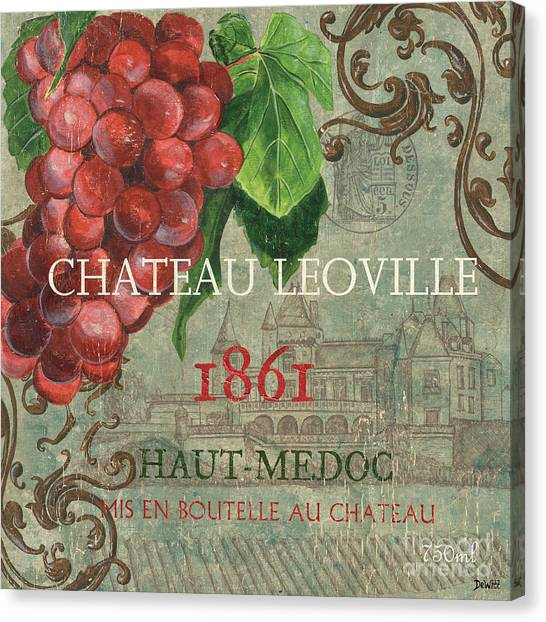 Red Wine Canvas Print - Beaujolais Nouveau 1 by Debbie DeWitt
