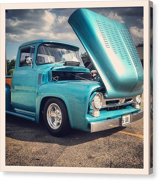 Trucks Canvas Print - Beautiful '56 by Mike Maher
