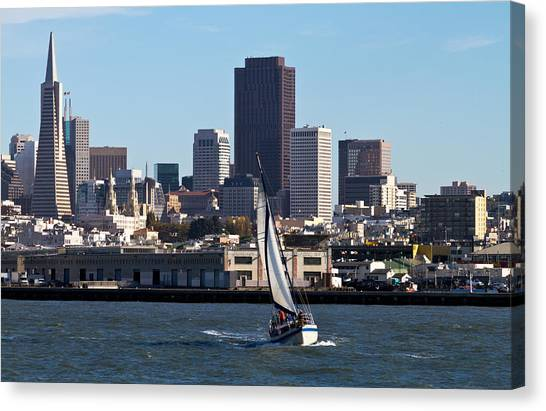 Beautiful Bay Beautiful Day Canvas Print by Bernard  Barcos
