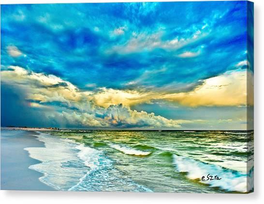 Beautiful Beach Blue Sea Canvas Print