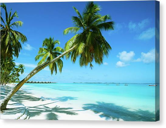 Beautiful Beach Resort Canvas Print
