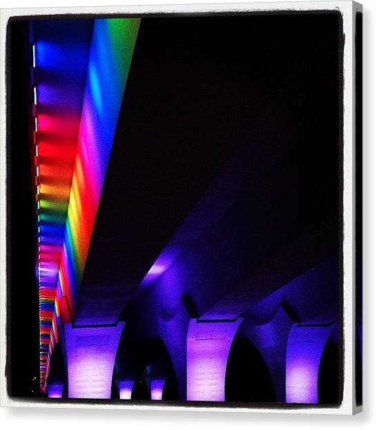 Gay Pride Canvas Print - Beautiful Bridge Beautiful Minneapolis by Heidi Hermes