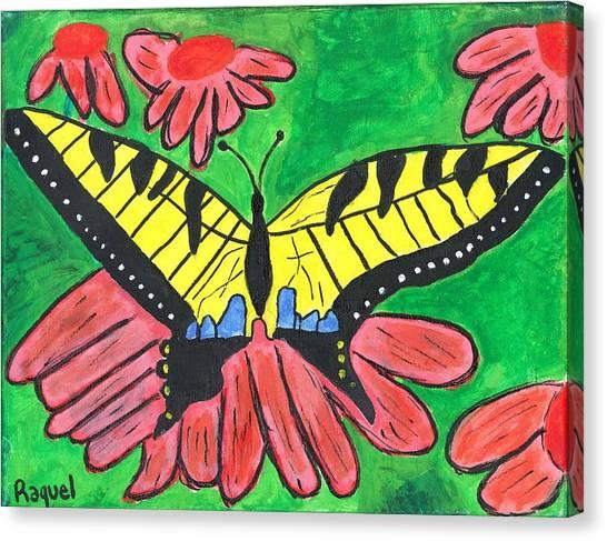 Tiger Swallowtail Butterfly Canvas Print by Raqul Chaupiz