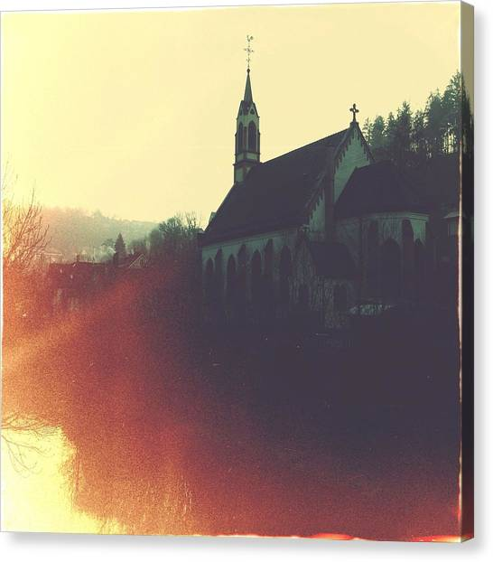 German Canvas Print - Beautiful Church  by Matthias Hauser