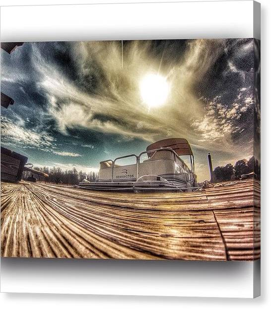 Pontoon Canvas Print - Beautiful Day For A #boozecruise On The by Big Sexy