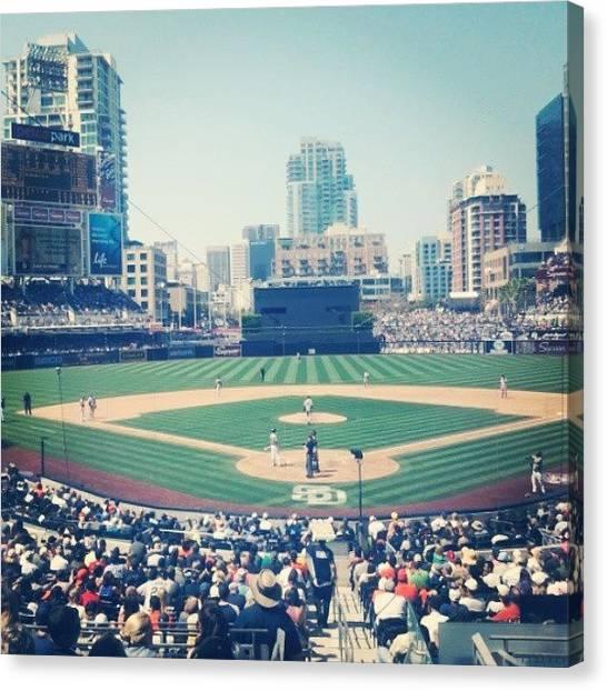 Lightning Canvas Print - Beautiful Day For Baseball In San by Jonny Lightning