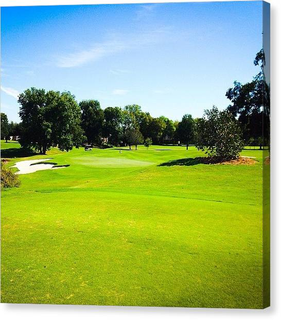 Sports Canvas Print - Beautiful Day For Golf!! by Scott Pellegrin