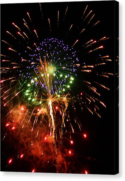 Beautiful Fireworks Works Canvas Print