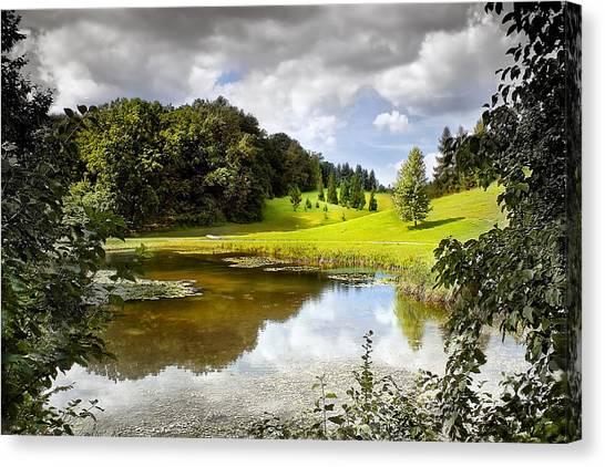 Beautiful Garden Summer Landscape Canvas Print