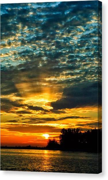 Beautiful Gulf Of Mexico Sunset Canvas Print