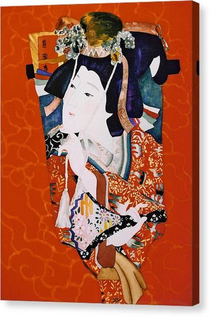 Beautiful Hagoita Canvas Print by Eve Riser Roberts