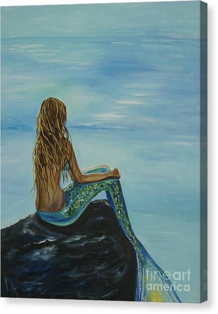Beautiful Magic Mermaid Canvas Print