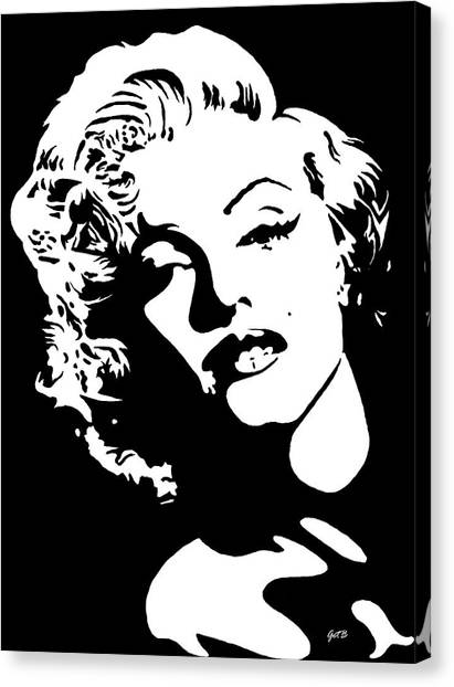 Canvas Print featuring the painting Beautiful Marilyn Monroe Original Acrylic Painting by Georgeta  Blanaru