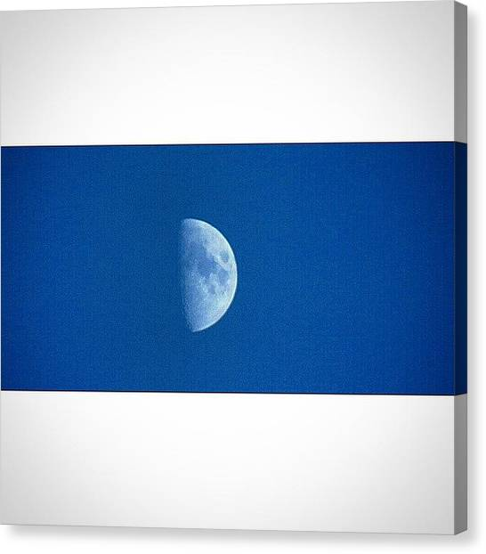 Satellite Canvas Print - Beautiful Moon 🌚 #moon #justpeeking by Bex Byrne