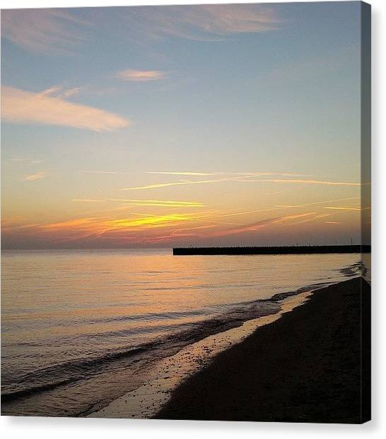 Sunrises Canvas Print - Beautiful Morning In Evanston by Lauri Novak