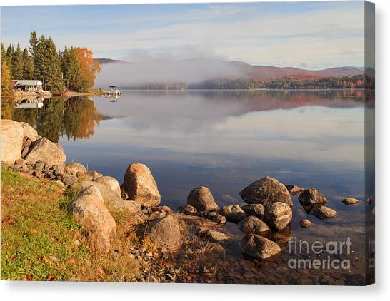 Beautiful Morning On Island Pond Canvas Print